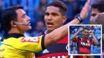 Paolo Guerrero: árbitro que lo expulsó detalló así sus gestos - Noticias de gremio vs flamengo