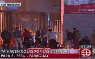 Perú vs. Paraguay: cientos acamparon en estadio por entradas