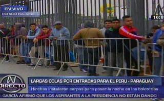 Perú vs. Paraguay: venta de entradas inició lenta pero ordenada