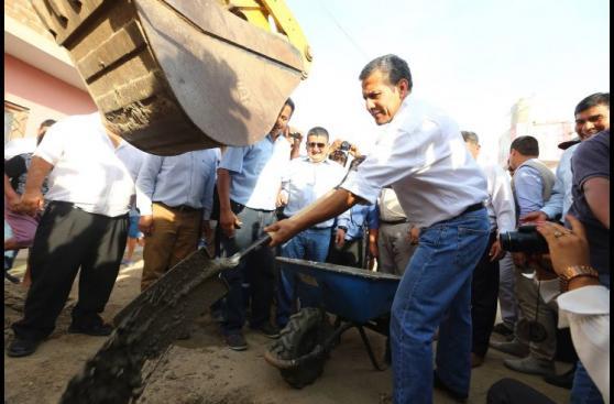 Ollanta Humala participó en trabajos de prevención por El Niño