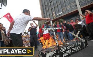Así fueron protestas de trabajadores por calles de Lima [VIDEO]