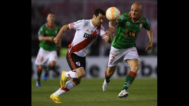River Plate perdió 1-0 Huracán en ida de semifinales de la Copa Sudamericana. (Foto: AFP)