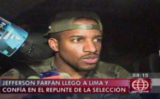 Jefferson Farfán, el primer 'extranjero' en llegar a Lima
