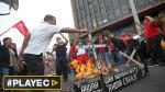 Así fueron protestas de trabajadores por calles de Lima [VIDEO] - Noticias de ley del servicio civil