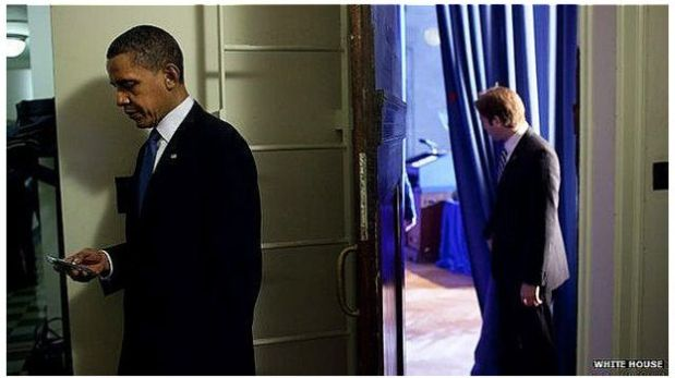 Obama es uno de los más prominentes usuarios de BlackBerry. (Foto: White House)