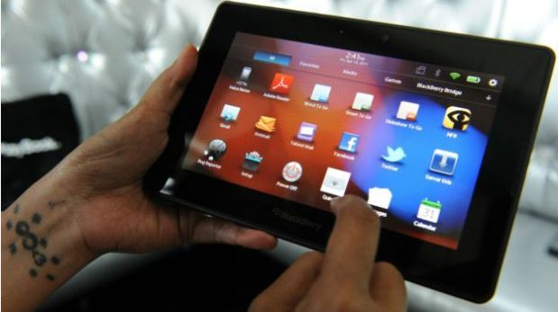 La tableta de BlackBerry tampoco fue precisamente un éxito comercial. (Foto: AFP)