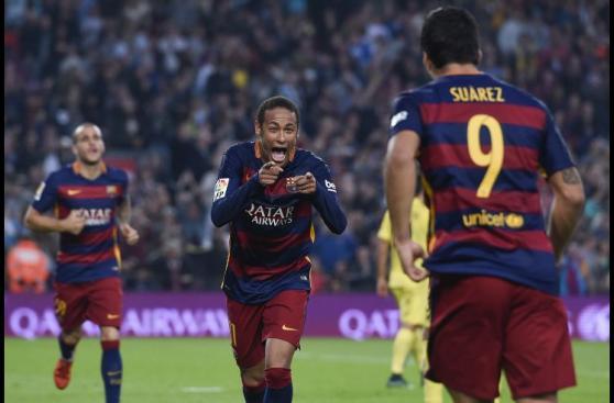 Neymar marcó golazos con el Barcelona y así celebró (FOTOS)