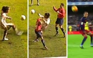 Ronaldinho también anotó golazo en Barza al estilo Neymar