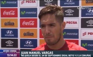 Vargas y su ocurrente respuesta sobre lesión de Claudio Pizarro