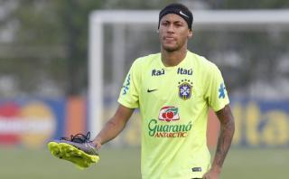 Neymar entrenó con Brasil para duelo con Argentina tras sanción