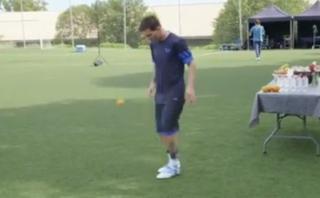 Lionel Messi dominó una naranja de forma increíble [VIDEO]