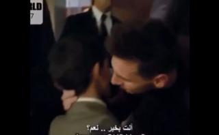 Lionel Messi y el tierno beso al hijo de Cristiano Ronaldo