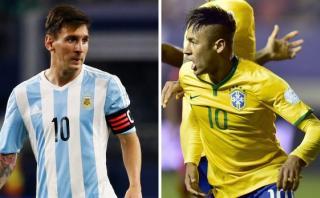 Argentina vs. Brasil: sufren sin Messi y gozan con Neymar