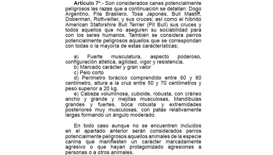 Características de los perros potencialmente peligrosos según la Municipalidad de Independencia.