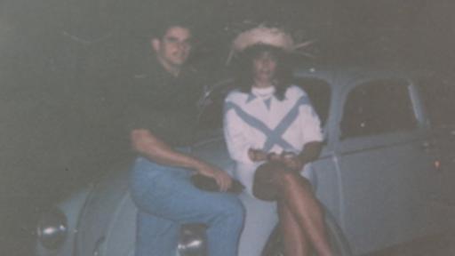 Naldo junto a Oliveira: una de las pocas fotos que la escritora conserva de su relación con el fallecido narco. (Foto cortesía de Raquel de Oliveira)