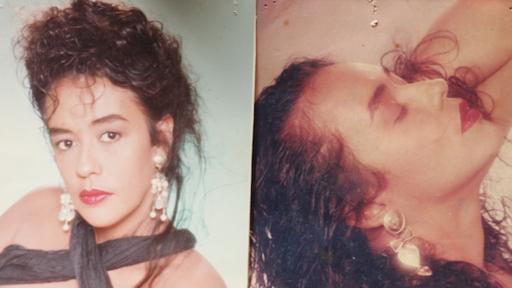 Dos retratos que Oliveira se hizo en un estudio de fotografía, a pedido de Naldo. (Foto cortesía de Raquel de Oliveira)