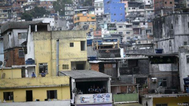 Rocinha: la gigantesca favela es un punto clave para el narcotráfico en Río.
