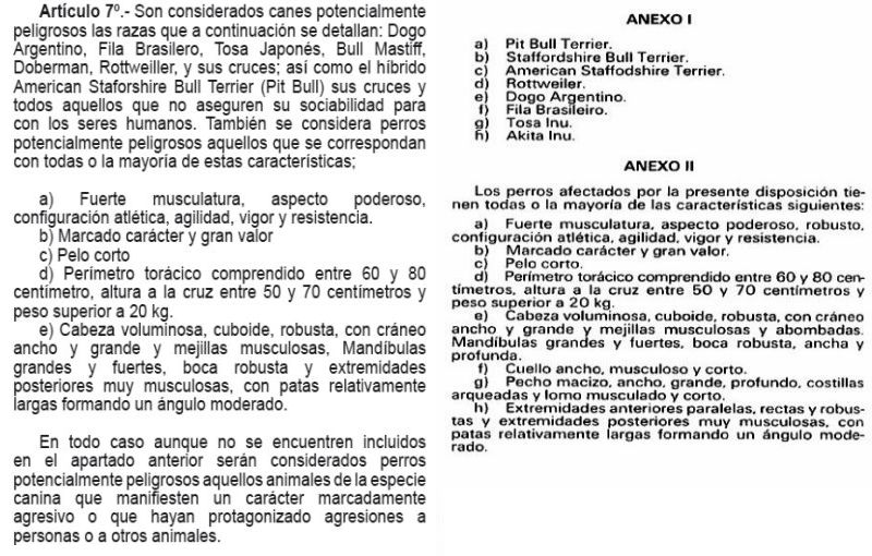 Izquierda: Ordenanza Nº 325-2015 de Independencia. Derecha: Real Decreto 287/2002 (Difusión)