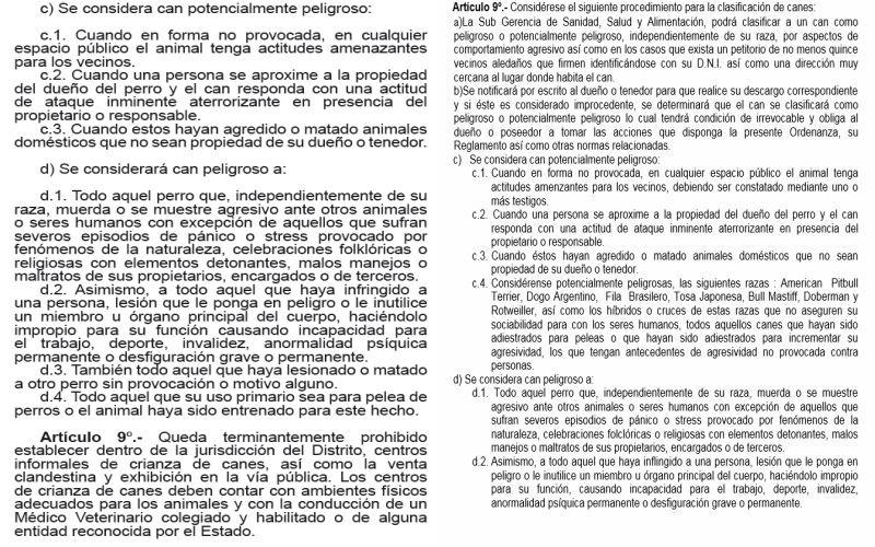 Izquierda: Ordenanza Nº 325-2015 de Independencia. Derecha: Ordenanza Nº 225 de Jesús María(Difusión)