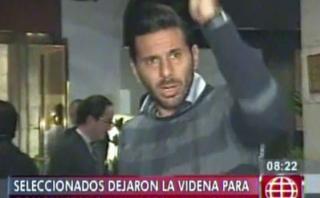 Claudio Pizarro se molestó con periodistas en la concentración
