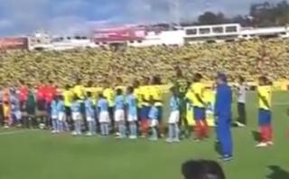 Ecuador: el espectacular marco durante el himno contra Uruguay