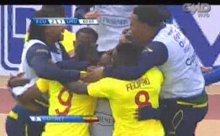 Fidel Martínez puso el 2-1 para Ecuador ante Uruguay