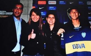 Neymar causa furor en Twitter por posar con camiseta de Boca