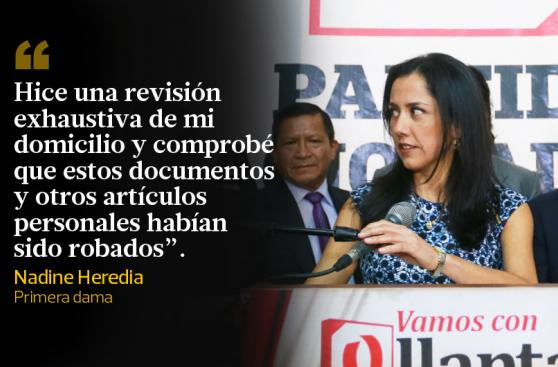 Nadine Heredia: todo lo que dijo hoy sobre sus agendas