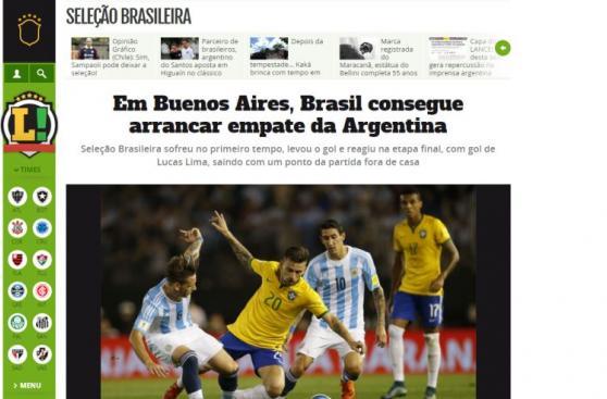 Argentina vs. Brasil: la reacción de la prensa tras el empate
