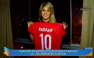 Yahaira Plasencia en Brasil para alentar a Jefferson Farfán