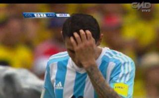 Argentina: Di María erró clara ocasión de gol contra Colombia