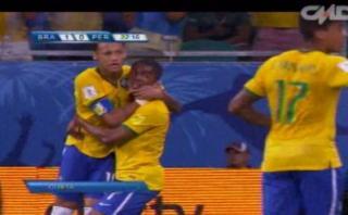 Brasil: Douglas Costa marcó el primer gol ante Perú (VIDEO)