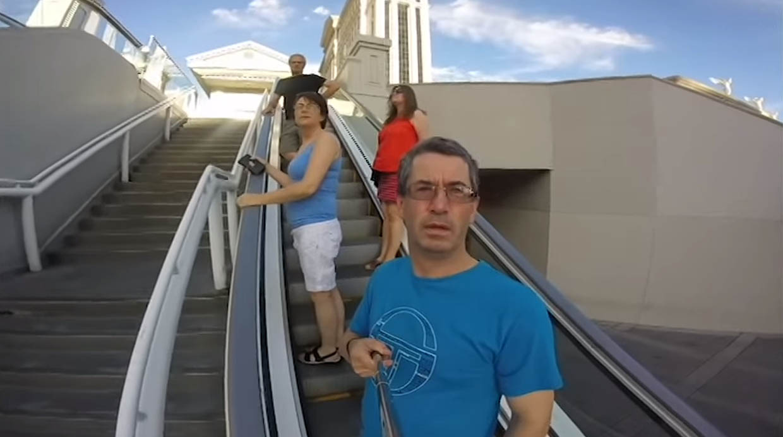 [Foto] Grabó todo su viaje a Las Vegas... pero en modo selfie