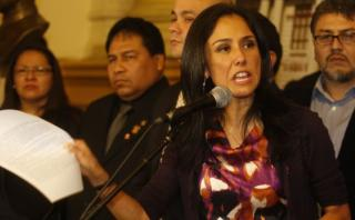 Nadine Heredia critica fallo que anula denuncias contra García