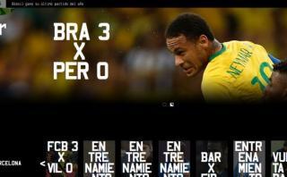 Neymar estrenó su impresionante nuevo sitio web