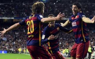 Barcelona humilló 4-0 a Real Madrid en el Santiago Bernabéu
