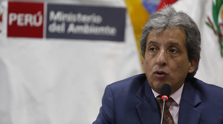"""Manuel Pulgar-Vidal, ministro del Ambiente (Minam), afirma que contribuciones del Perú con miras a la COP 21 están acorde con la demanda global y se han desarrollado proyectos bien definidos. """"La meta que hemos planteado está dentro de las más ambiciosas, entre 20 % y 25%"""", recalcó. (Foto: Hugo Pérez / Archivo El Comercio)"""