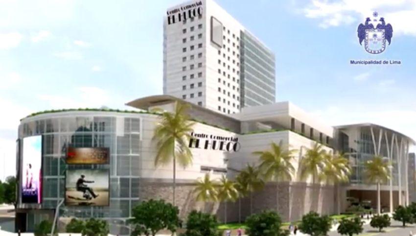 Captura del video presentado por los comerciantes de El Hueco y la Municipalidad de Lima sobre el nuevo centro comercial. (Youtube/Municipalidad de Lima)