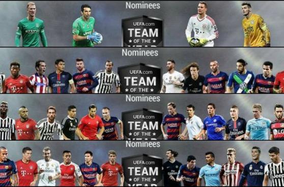 UEFA: los 40 futbolistas nominados para el once ideal de Europa