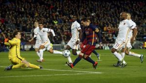 Messi marcó golazo a la Roma por la Champions League