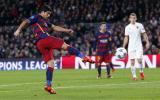 Luis Suárez anotó brillante gol de volea en la Champions League