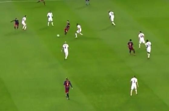CUADROxCUADRO: golazo de Messi tras jugada con Neymar y Suárez