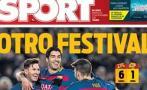 """Prensa española alaba tridente del Barcelona: """"Estratosférico"""""""