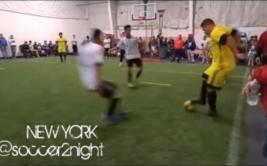 ¿El ex jugador Ronaldo exhibe su fútbol en Nueva York? [VIDEO]