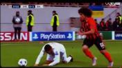 Cristiano Ronaldo hizo el ridículo al intentar una bicicleta