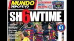 """Prensa española alaba tridente del Barcelona: """"Estratosférico"""" - Noticias de un día como hoy"""