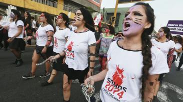 Mujeres salieron a las calles contra la violencia de género
