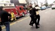 Policía que mató a peatón reaccionó así a detención [VIDEO]