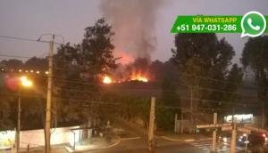 La Molina: incendio se originó en sede de universidad [VIDEO]