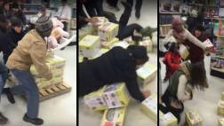 Locura del Black Friday provocó estas violentas peleas [VIDEO]
